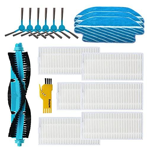 Accesorios de repuesto para Cecotec Conga 2090 Robot Aspirador Cepillo principal y filtro y cepillo lateral y paño de fregona