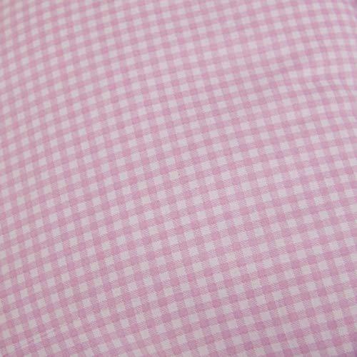 Hans-Textil-Shop Stoff Meterware Vichy Karo 3x3 mm Rosa Baumwolle Karomuster Gedruckt Kariert - 1 Meter