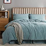 Bedsure King Comforter Set, 8 Pieces Jacquard Bed in a Bag Bed Set with Comforter and Sheets, Teal Reversible All Season Down Alternative Bedding Comforter Sets(102'x90')