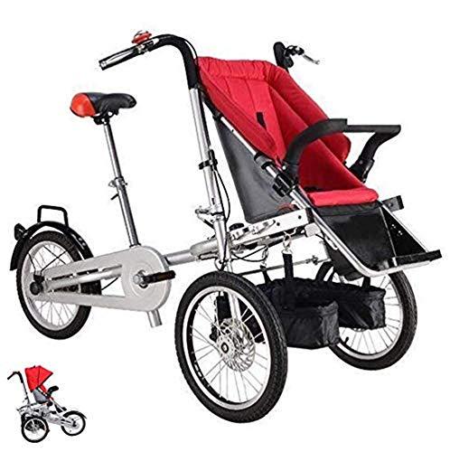 KAIRUIQI multifunctionele opvouwbare ouder-kind fiets, outdoor driewieler, sightseeing fiets