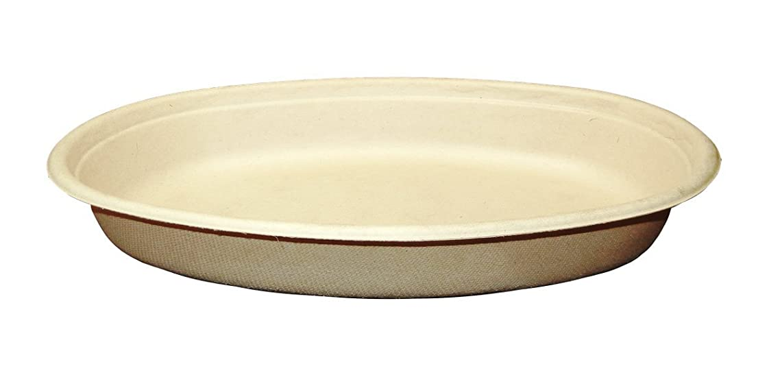 World Centric BO-SC-UBBS 100% Compostable Unbleached Plant Fiber Burrito Bowls, 24 oz. (Pack of 400)