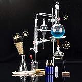 Sucastle Alambicco di distillazione unità Set di Vetro da Laboratorio distillatore Science 500 Ml