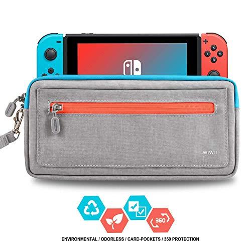 WIWU - Funda para Nintendo Switch, versión de actualización, Delgada, Bolsa rígida, Resistente al Agua, EVA, Viaje, Viaje, con Interruptor, 8 Cartuchos de Juego