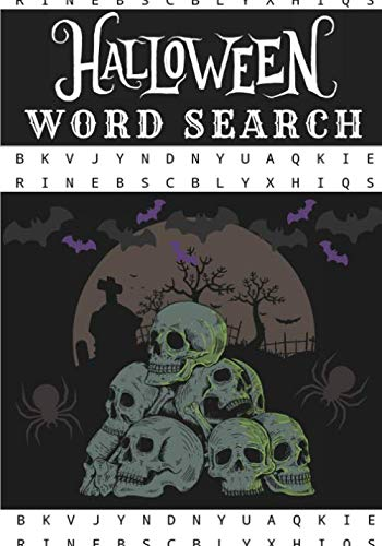 Halloween Word Search: Happy Halloween | Challenging Puzzle book For Adults & Kids | 60 puzzles with word searches and scrambles | Find more than 400 ... Ghost, Tricks, Treat | Large Print Gifts.