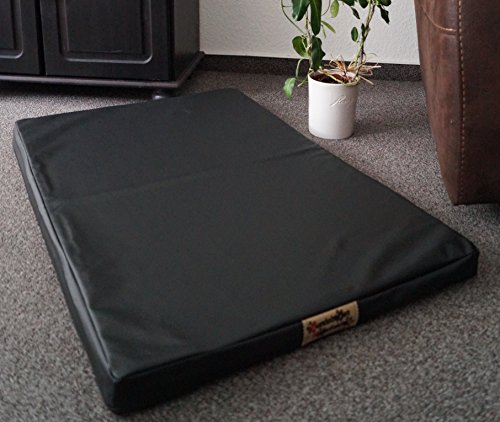 Hundematratze Hundebett Matratze Kunstleder 90 cm X 60 cm Top Ware schwarz