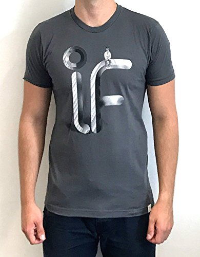 Imaginary Foundation - Herren T-Shirt - Airbrush Logo (S, Charcoal)
