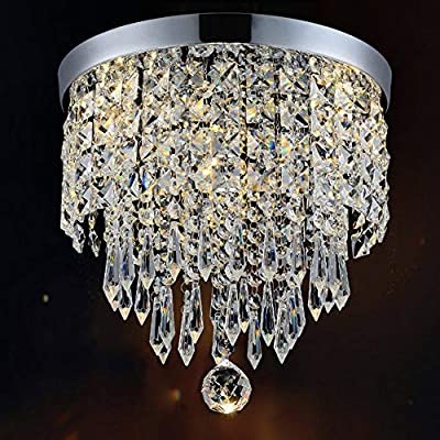 "Hile Lighting KU300074 Modern Chandelier Crystal Ball Fixture Pendant Ceiling Lamp H10.43"" X W8.66"", 1 Light"