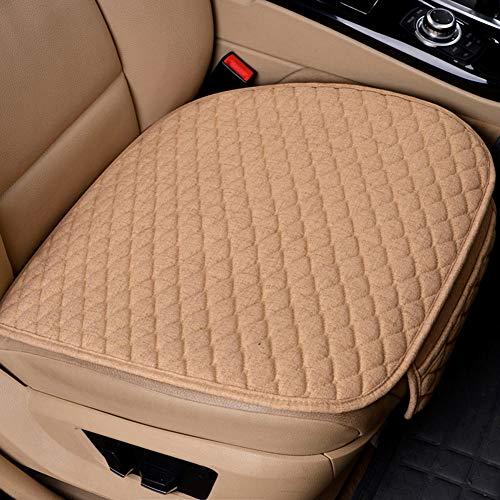 Funda para asiento de coche, cojín para asiento de coche, asiento de coche, silla de oficina, uso en el hogar, cojín de espuma viscoelástica, color beis/negro/café 19.5 x 18.5 pulgadas
