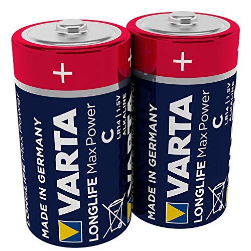 VARTA Longlife Max Power C Baby LR14 Batterie (2er Pack) Alkaline Batterien – Made in Germany – ideal für Spielzeug und Alltagsgeräte