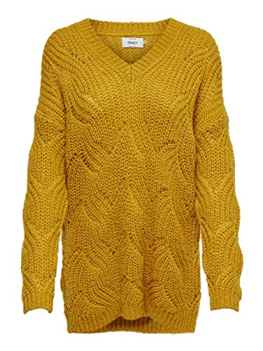 ONLY Damen Strickpullover Lockerer LGolden Yellow