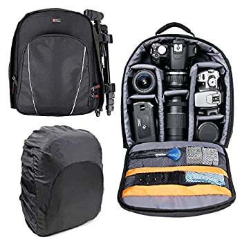 DURAGADGET Black Water-Resistant Rucksack - Compatible with Bresser Condor 10x25 | 10x32 | 10x42 | 10x50 | 10x56 | 7x50 | 8x25 | 8x26 | 8x32 | 8x42 | 9x63 Binoculars