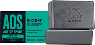 Art of Sport Mens Bar Soap (2-Pack) - Victory Scent - Charcoal Soap with Natural Botanicals - Shea Butter and Tea Tree Soa...