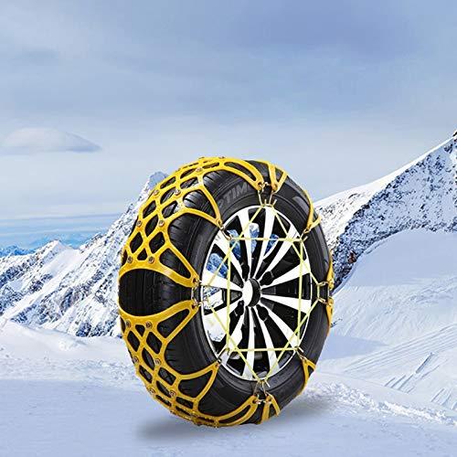 WY-YAN 2 PC/Cadena de nieve del invierno Conjunto for el carro del coche de protección de neumáticos carretera antideslizante TPU de coches Herramienta de neumáticos de emergencia Cadena