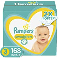 168-Count Pampers Swaddlers Disposable Baby Diapers, Size 3