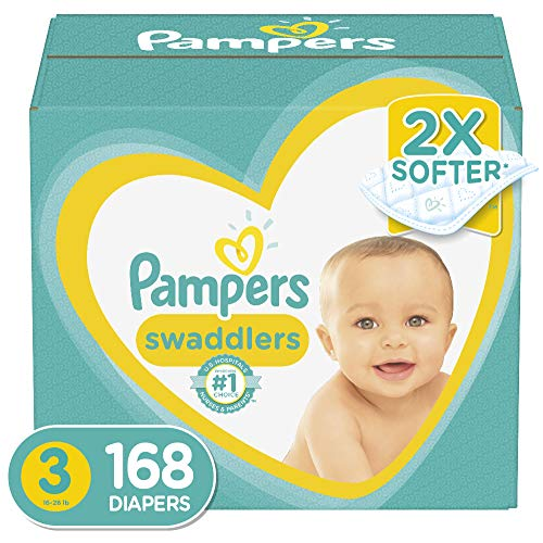 Diapers Size 3, 168 Count - Pampers Swaddlers...