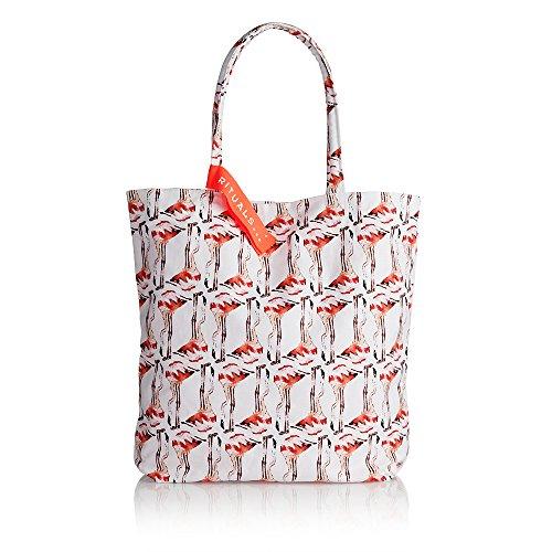 RITUALS Mandi Lulur Summer Limited Editon Hammam Beach Bag Farbe: Weiss/Peach mit Flamingos