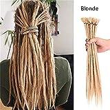 20'20 Strands/Pack Human Handmade Dreadlocks Dreads Hair Extensions Synthetic Braiding Crochet For Afro Women Men Hair Ombre Faux Locs Reggae Hair (Blonde)