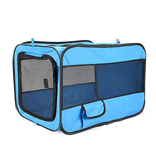 SHYSBV Huisdier hond autostoel mesh ademende mand veiligheid reizen mesh opknoping tas hond zitzak mand@Blauw 76.7X48.5X 48cm
