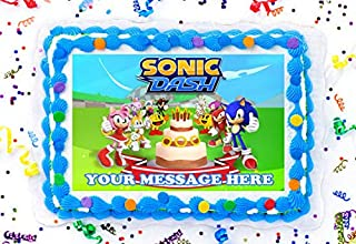 Sonic Dash Cake Topper Edible Image Personalized Cupcakes Frosting Sugar Sheet (8