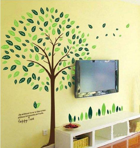 【Happy Tree】大きいサイズ ウォールステッカー ウォールペーパー シール 防水!リビング/子供部屋/...
