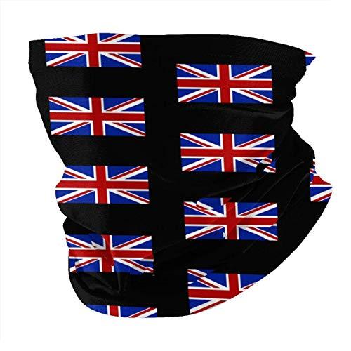 Tienda de pasamontañas Bandera británica Pañuelos para la Cara Pañuelos Deportivos e Informales Multifunción Escudo Facial Cuello Polaina Sombreros SeamlHeadwrap Pasamontañas Negro