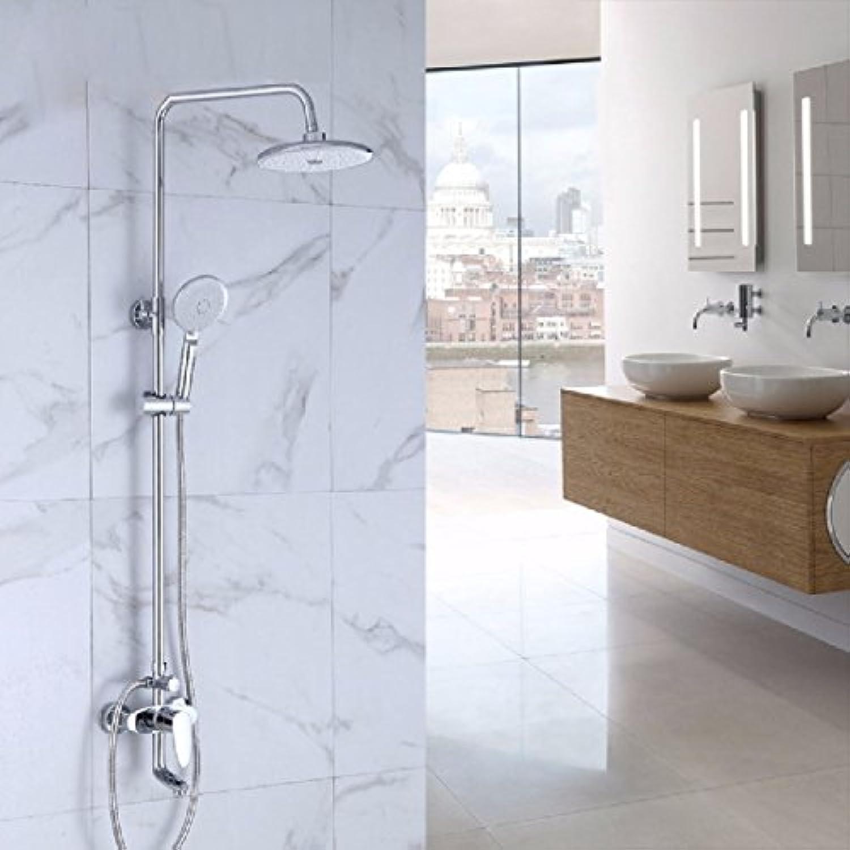ANNTYE Waschtischarmatur Bad Mischbatterie Badarmatur Waschbecken Regendusche Set Messing Dusche mit heiem und kaltem Wasser Badezimmer Waschtischmischer