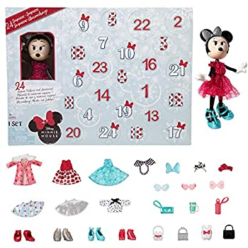 Disney Minnie Mouse Advent Calendar with 24 Day Holiday Theme Surprise Fashions & Accessories [Amazon Exclusive]