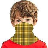 Kids Neck Warmer Bandana Yellow Plaid Flannel...