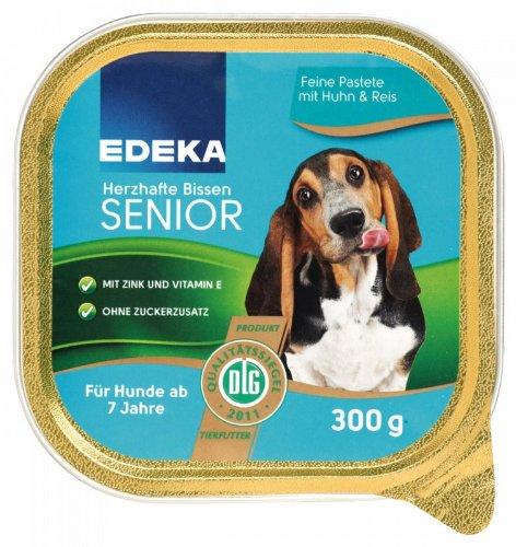 EDEKA Herzhafte Bissen Senior mit Huhn und Reis 300g