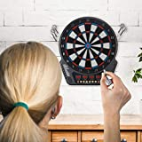 Electronic Dart Target Automatic Scoring Soft Dart Target Darts with 6 Spare Darts, 27 Sets and 243 Variants for 16 Players for Family, Office, Friend