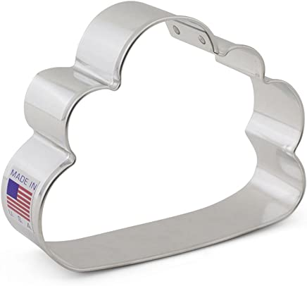 Cloud Cookie Cutter – Ann Clark - 3.75 Inches – US Tin Plated Steel