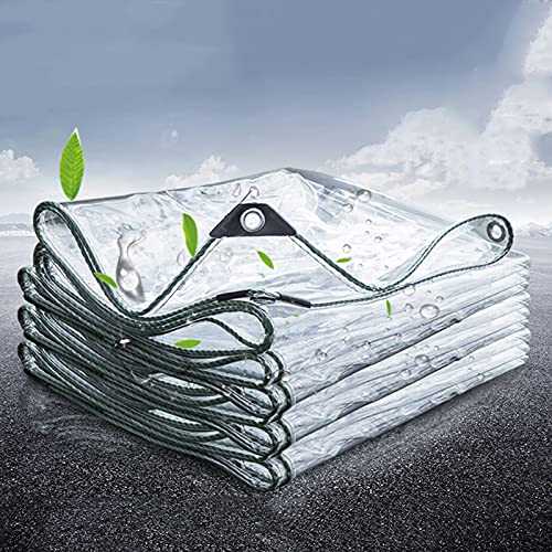 Cubierta De Lona Transparente Impermeable, Lona Resistente Al Polvo A Prueba De Lluvia, PVC con Aislamiento Antienvejecimiento para Acampar, Pescar, Jardinería