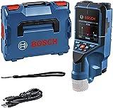 Bosch Professional 12V System Detector D-tect 200 C (sin batería ni cargador, detección de cables con y sin tensión, metal, plástico, madera y cavidades; cable USB-C™, L-BOXX)