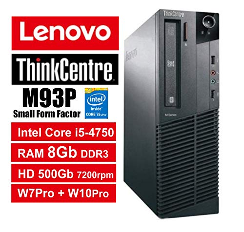 Lenovo ThinkCentre M93P SFF - Core i5-4570, 8 GB RAM, 500 GB HDD, 7200rpm, DVDRW, Windows 7 Pro + Windows 10 Pro UpGrade (Zertifiziert) M93P 8Gb