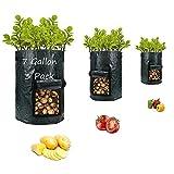 Potato-Grow-Bags,Garden Vegetable Planter with Handles&Access Flap for...