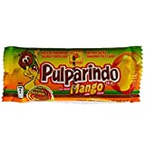 Authentic Sabores - Imported Mexican Pulparindo Hot and Salted Tamarind Pulp Candy With Mango Flavor 20ct. With 1ct. Pulparind Dots Tamarind Pulp Candy Mango Flavored