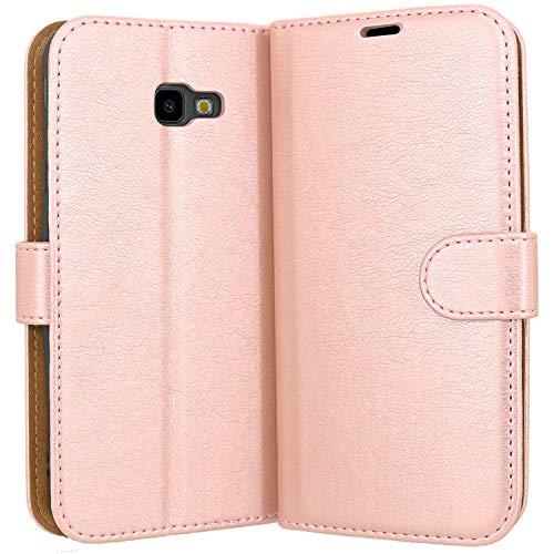 Hülle Collection Hochwertige Leder hülle für Samsung Galaxy J4 Plus Hülle (6,0