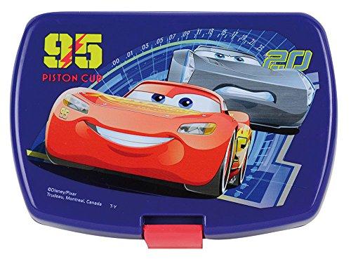 Fun House 005512Disney Cars–Fiambrera Infantil para la Merienda, Polipropileno, Azul, 17x...