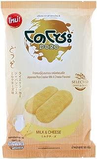どず日本のせんべいミルク&チーズ味58g。3パック Dozo Japanese rice cracker milk&cheese Flavour 58g. x3 packs