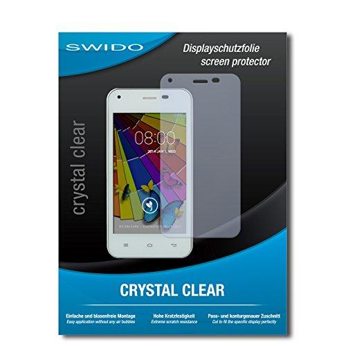 SWIDO Bildschirmschutz für Jiayu F1 [4 Stück] Kristall-Klar, Hoher Festigkeitgrad, Schutz vor Öl, Staub & Kratzer/Schutzfolie, Bildschirmschutzfolie, Panzerglas Folie