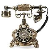 Retro Rotary Phone Vintage Decorative Telephones Old Fashion Telephone Rotary Dial Phone Desk Phone Antique Design Telephone Landline Phone Home Office Decor Telephone