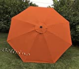 BELLRINO Replacement Brick Umbrella Canopy for 9 ft 8 Ribs (Canopy Only) (Brick - 98)