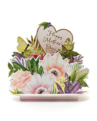 Mother's Day Card 3D Pop Up - Special Mother's Day Card Butterflies Popup - Mother's Day Card Pop Out 3D with Butterflies - Mother's Day Gifts - Happy Mother's Day Card