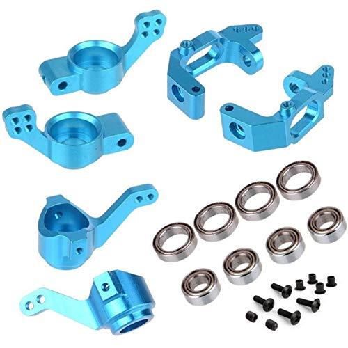 JVSISM für 1/10 94123 94111 HSP Upgrade Parts 102010 102011 102012 02013 02014 02015 Kugel Lager Aluminium Legierungs Lenk Naben Montage Satz, Blau