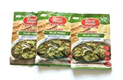 Just add spinach puree, cottage cheese & tomatoes No added preservatives. No artificial colours In just 3 steps - In just 15 minutes Suitable for Vegetarians Export Pack