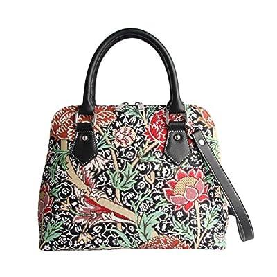 Signare Tapestry Women Top Handle Handbag/Shoulder Bag/Cross Body Bag William Morris the Cray Flower (CONV-CRAY)