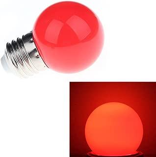 Aquiver 1W E27 Round LED Golf Ball Light Energy Saving Mini Bulb Lamp (Red)