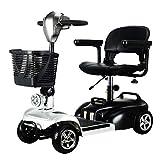 ZGYQGOO Scooter motorisé portatif à Roues et à Scooter électrique de la mobilité 4 pour Adultes jusqu'à 8 km/h, portée de 35 km