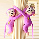 XINRUIBO Magnetic Curtain Buckle Curtain Straps Free Punching Free Installation Cartoon Monkey Creative Cute Suitable for Bedroom Living Room Christmas Decoration (Color : F) cortinas de Navidad