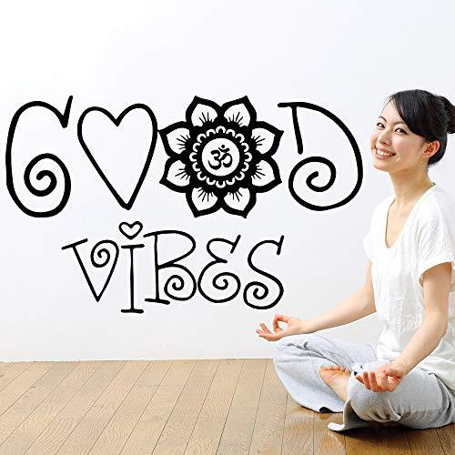 yaonuli Wandtattoo Gute Vibration Marokkanisches Mandala-Muster Indisches Yoga Schlafzimmer Schlafzimmer Wohnzimmer Wohnkultur Kunst Wandbild 72x42cm